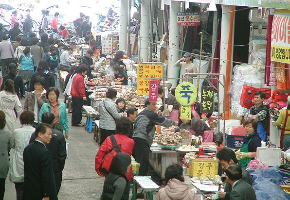 Price comparisons between different Daegu markets