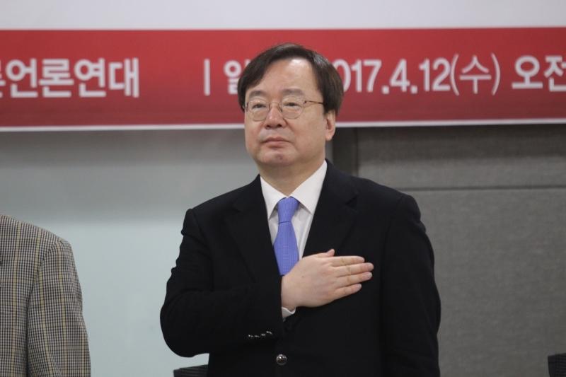 ▲ 강효상 미래통합당 의원. 사진=김도연 기자.